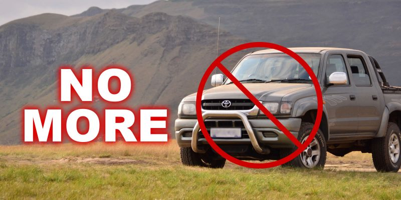 "Toyota announces ""No more 4WD's"" starting from July 2020"